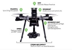 Documentary Movie Video Production Drone for Panasonic GH4 or Sony A7 or better with Independent Gimbal remote control Image #3