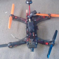 Racing Drone with FPV FatShark Goggles Image