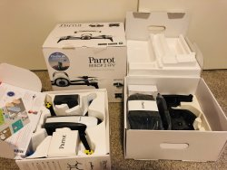 Parrot Bebop 2 FPV drone with cockpit glasses and backpack Image