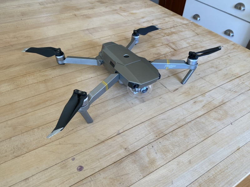 DJI Mavic Pro Platinum with extra bettery, 64 GB SD Card, Drone Bag, Controller, and charging equipment Image #1