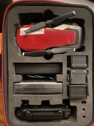 Red mavic Air Fly More Combo with extra Carrying cases 3 batteries with charger that charges all the same time Image #2