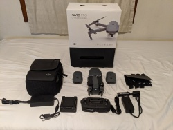 Mavic Pro Fly More Combo (w/ only 2 working batteries). Used - Like New. Image