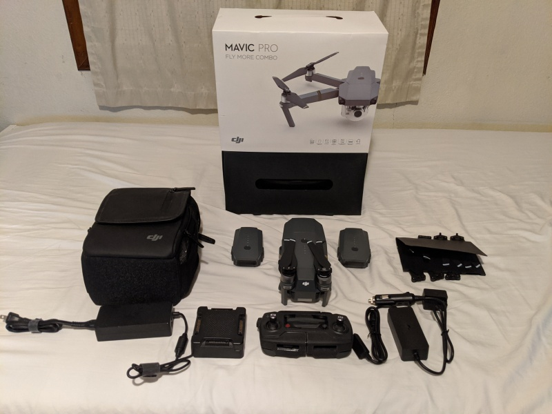 Mavic Pro Fly More Combo (w/ only 2 working batteries). Used - Like New. Image #1