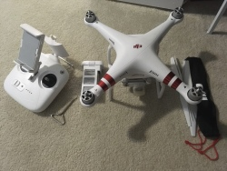 DJI Phantom 3 Standard Drone Upgraded with Accessories Image