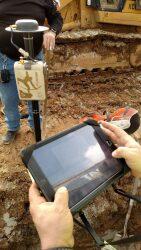 Survey grade Ground Control GPS: EOS Arrow Gold GPS receiver and pole Image