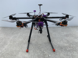 Hexacopter:  Tarot 960 foldable frame with tall retractable landing gear Image