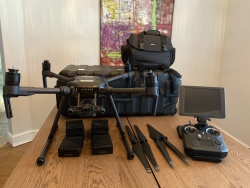 DJI Matrice 210 Industrial Drone w/Crystal Sky & Cendence remote. Low hours!! Image