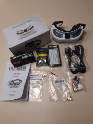 2 FAT SHARK DOMINATOR HD2  MODEL FSV1074 (DOUBLE SET OF GOGGLES, CABLE AND BATTERY) Image #2
