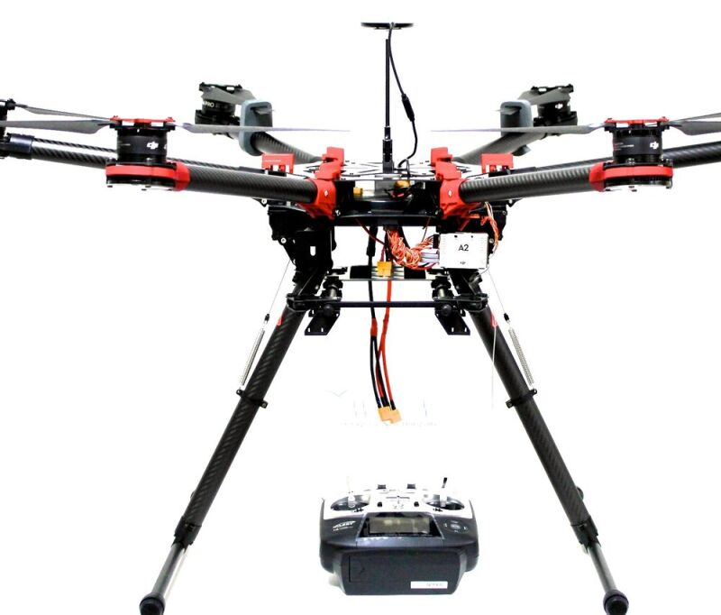 DJI S900 with A2 Flight Controller w/ iOSD Mark II and DJI 5.8GHz Video Downlink Plus Futuba T14SG $3000 Image #1