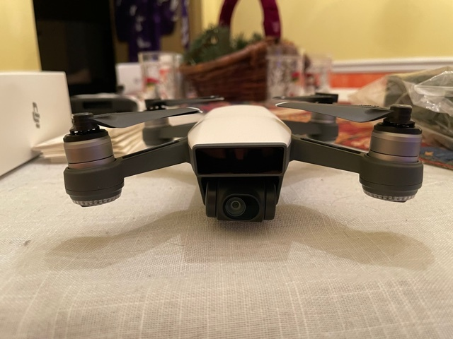 MINT DJI Spark Alpine White with Remote Control, 2 batteries and UNOPENED battery charger Image #1
