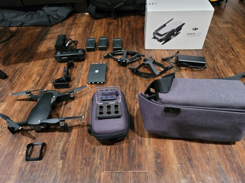 Mavic air with Polar pro filters and Pygtech components for sale Image #1