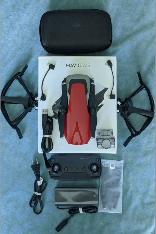 DJI Mavic Air Flame Red - Barely Used - Not more than 2 Hours of total flight - Original Packaging Image #1