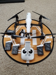 Inspire 1 for sale-Less than 10 hours of flight time on the airframe Image #2