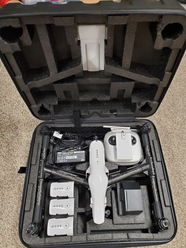 Inspire 1 for sale-Less than 10 hours of flight time on the airframe Image #1