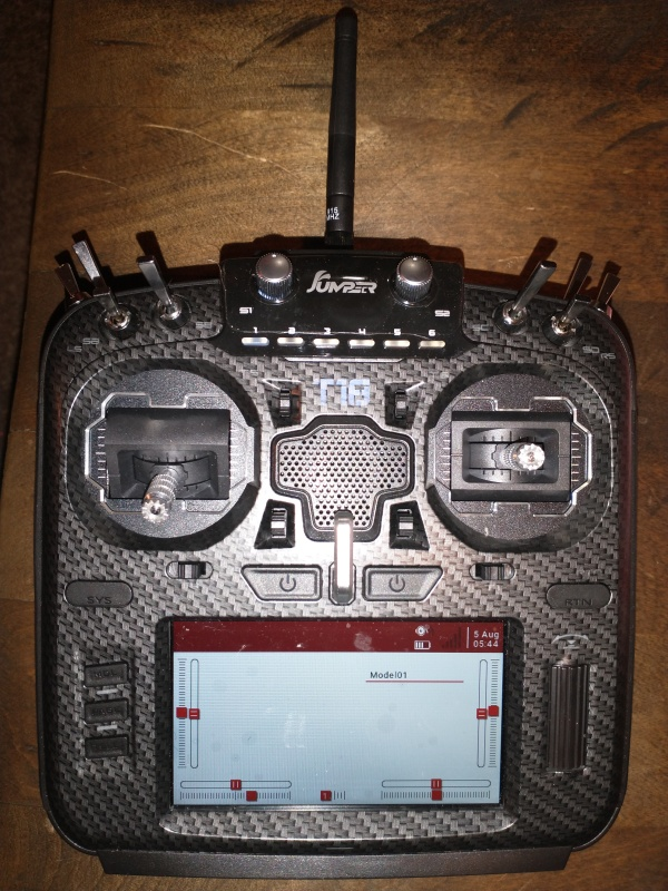 Jumper T18 Pro Multiprotocol Radio Transmitter. Never been used BNIB. Opened it to power test only. Never even had a model bound to it. Image #1