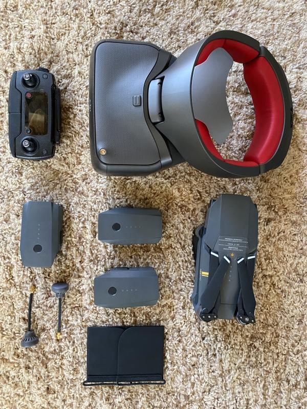 DJI Mavic Pro with racing goggle and extras Image #1