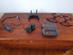 Mavic Air batteries, prop guards, controller, backpack, and charging station Image #2