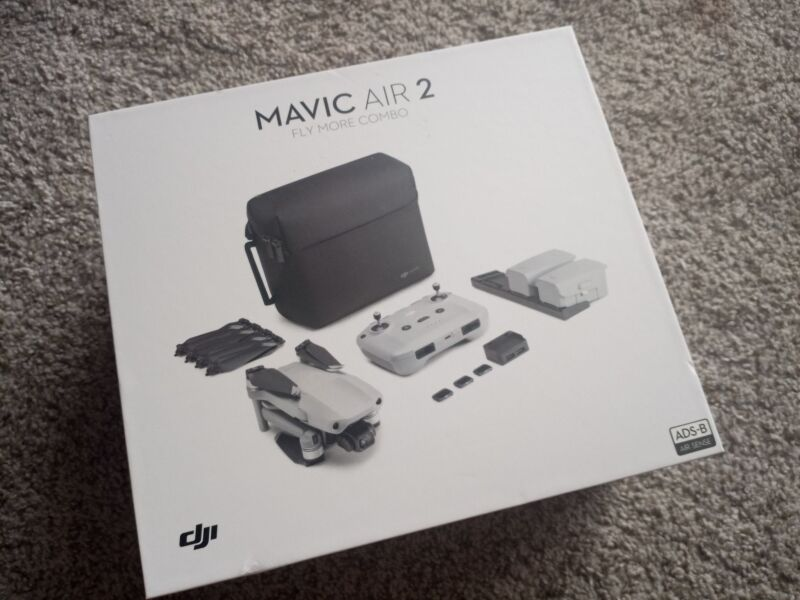 Never Used  DJI MAVIC AIR 2 COMBO // original box and accessories included. Image #1
