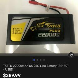 PULSE ULTRA 22000mAh 6S 22.2V 25C LiPo Drone Battery Batteries Image #3