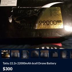 PULSE ULTRA 22000mAh 6S 22.2V 25C LiPo Drone Battery Batteries Image #2