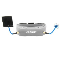 Aomway Commander V1 Fpv goggles and battery pack Image