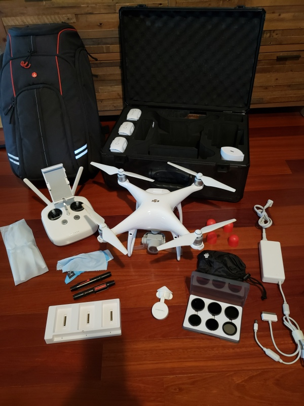 PRICED TO SELL. Mint Condition Phantom 4 Pro Complete Package w/Hard Case & Backpack Image #1