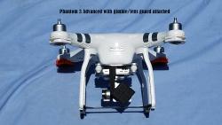 Used DJI Phantom 3 Adv drone, FPVLR Antenna, Nvidia Shield K1 Tablet, SKB military spec Case, 4 Battery Bundle Image #4
