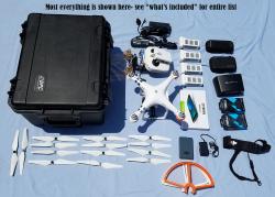 Used DJI Phantom 3 Adv drone, FPVLR Antenna, Nvidia Shield K1 Tablet, SKB military spec Case, 4 Battery Bundle Image
