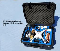 Used DJI Phantom 3 Adv drone, FPVLR Antenna, Nvidia Shield K1 Tablet, SKB military spec Case, 4 Battery Bundle Image #2