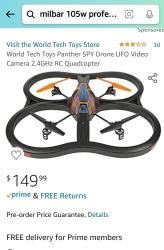 World Tech Toys Panther Spy UFO Image