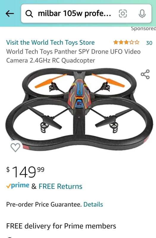 World Tech Toys Panther Spy UFO Image #1