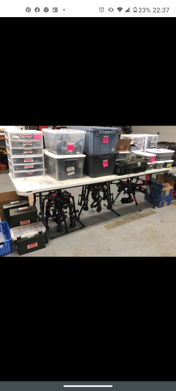 *****GIANT DJI MULTI DRONES AND TONS OF SPARES HUGE LOT**** Image #1