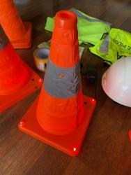Drone Setup Safety Kit | Hi-Visibility Safety Vest | Hard Hat | Reflective Cones Image