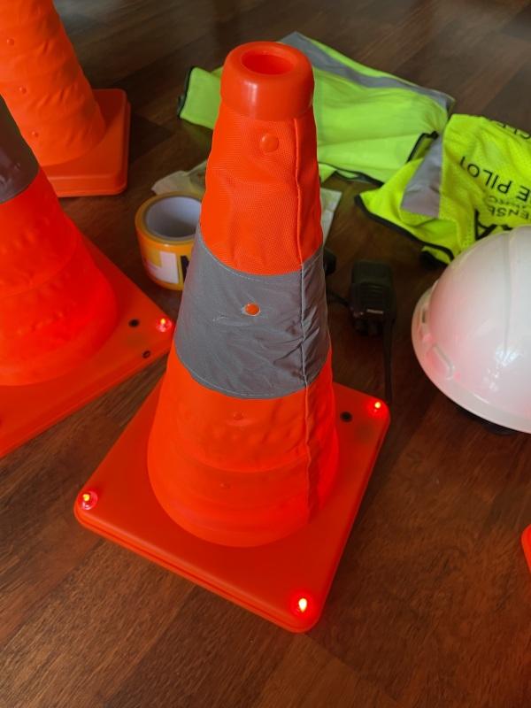 Drone Setup Safety Kit | Hi-Visibility Safety Vest | Hard Hat | Reflective Cones Image #1