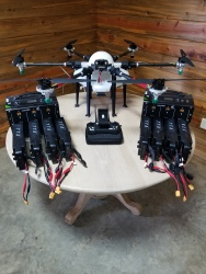 HSE-UAV M6E X1 Spray Drone 2.6 Gal Agricultural Drone Image