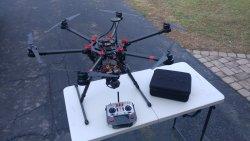 Pixhawk-based s900 DJI drone w/ blue vigil tether system 1500w 110 -220v AC input Image
