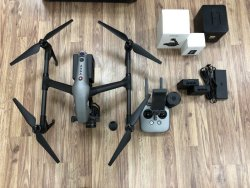 DJI Inspire 2 with Zenmuse X7, 16mm lens, Remote, and 4 batteries Image