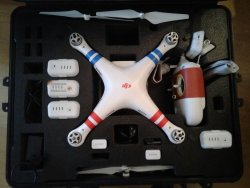DJI PHANTOM 2 VISION PLUS 3 EXTRA BATTERIES AND SAFE CASE Image