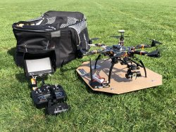 DJI F550 Hexacopter with FPV, Bluetooth Data Link & Ground Station and Carrying Backpack Image