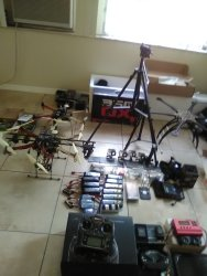 2 Quadcopters custom made DJI 550 and whirlwind  550.with lots of extras Image
