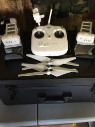DJI Phantom 3 Remote Control and Batteries Image