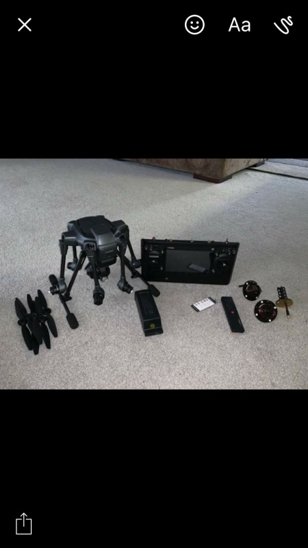 Yuneec typhoon H. Intel real sense, two batteries, rapid charger, and case. Image #1