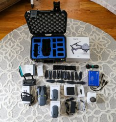 Mavic Pro with controller, original packaging, hard case, 3 batteries, multple chargers and propellers - Like New Image