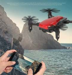 SMART Folding Drone / Quadcopter Wifi FPV HD Camera Headless Mode Foldable Image #3