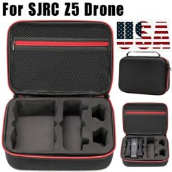 SJRC Z5 Drone Case (brand new), 2 brand new batteries, used controller, props, manual *FREE SHIPPING* Image