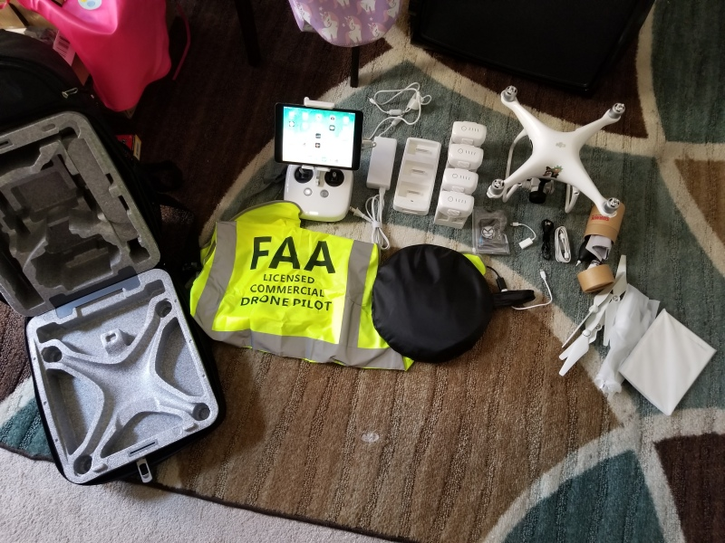 Complete DJI P4P kit with 4 batteries + Tons of extras Image #1