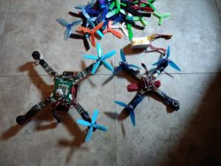 Custom built drones lot Image